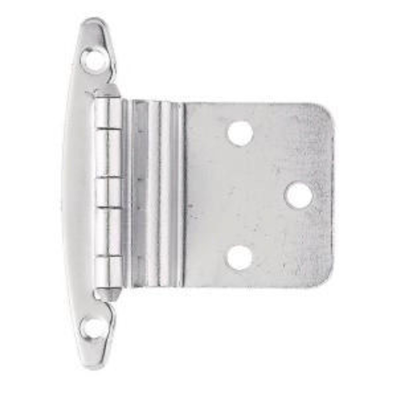 "H00930C-CHR 3/8"" Self Closing Inset Hinge W/O Spring Chrome 2 Pack"
