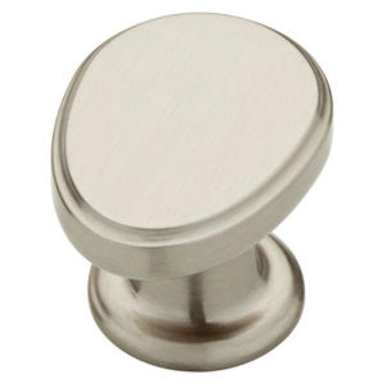 "085-03-0041  1 1/4"" Serenity Satin Nickel Cabinet Drawer Pull Knob 10 Pack"