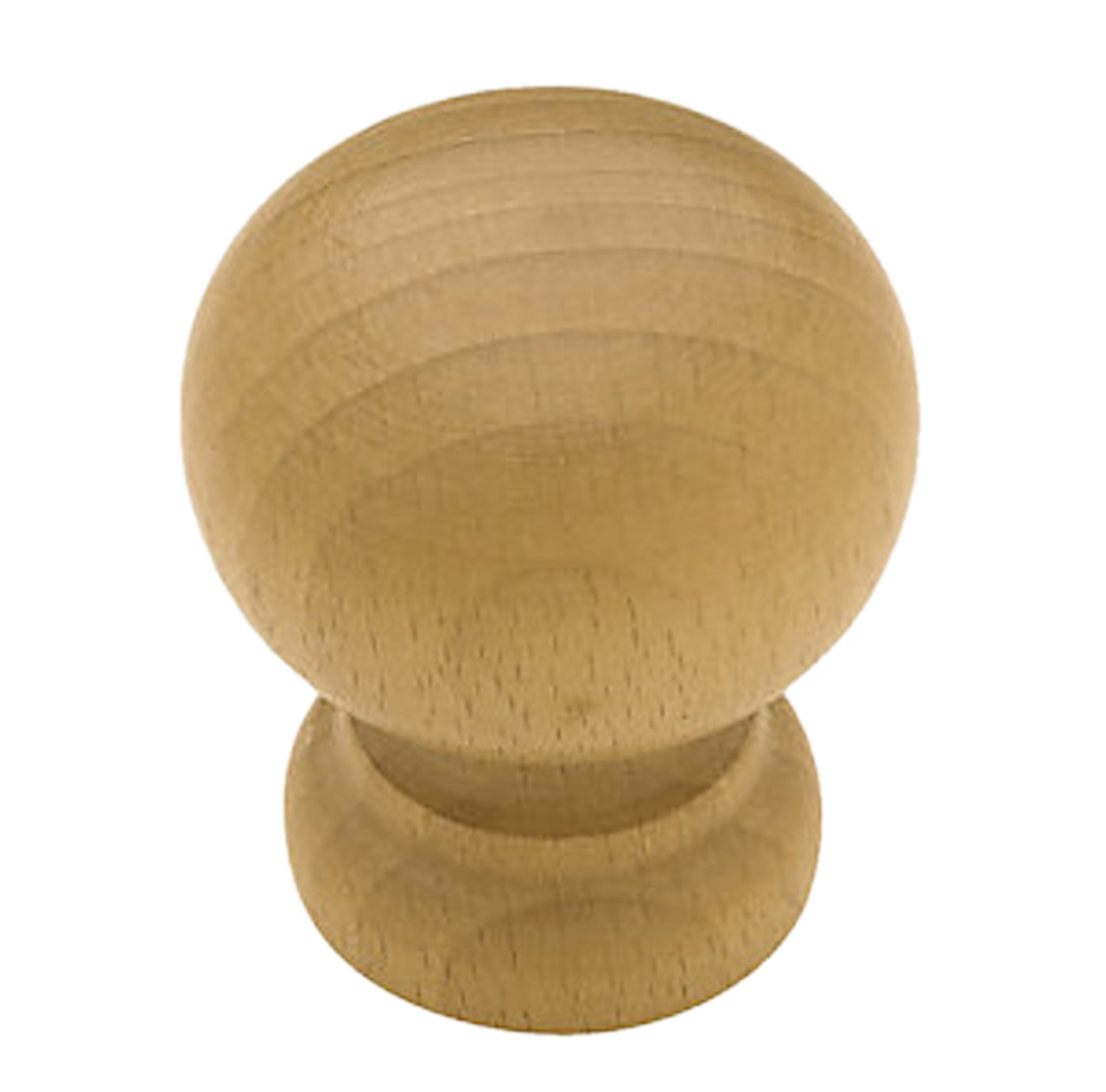 """P59103-LBE  Lacquered Matte Beech Wood 1 1/8"""" Round Cabinet Drawer Knob"""