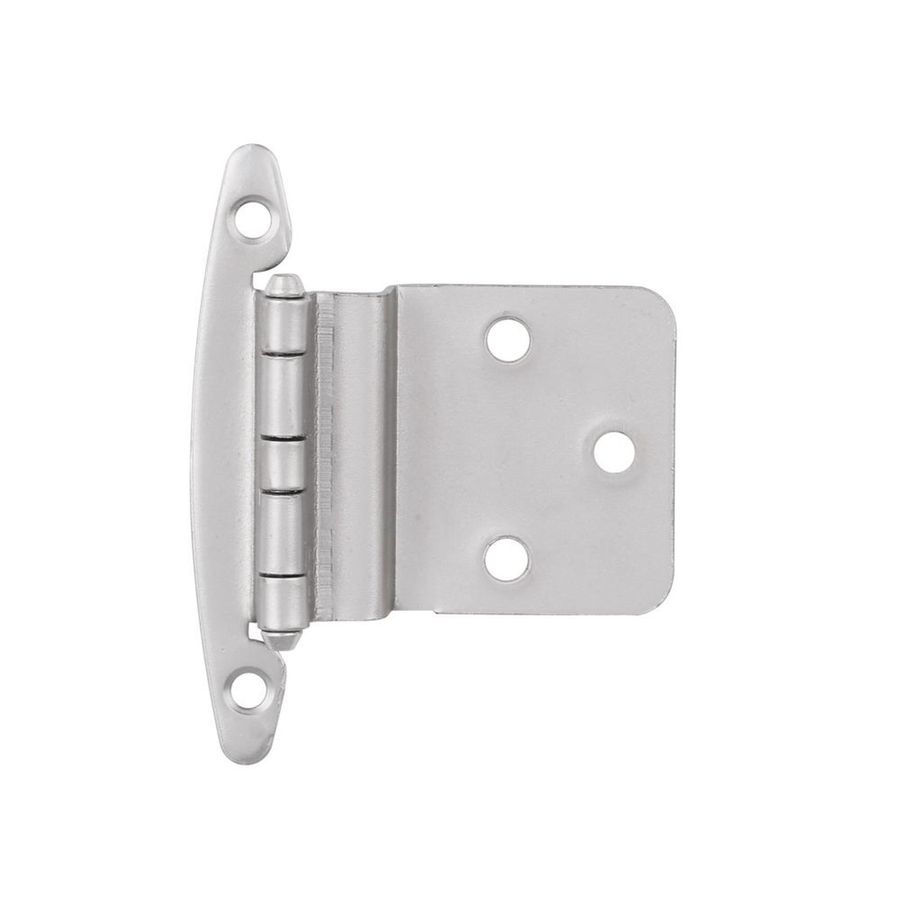 "H00930L-SN 3/8"" Self Closing Inset Hinge W/O Spring Satin Nickel 10 Pack"