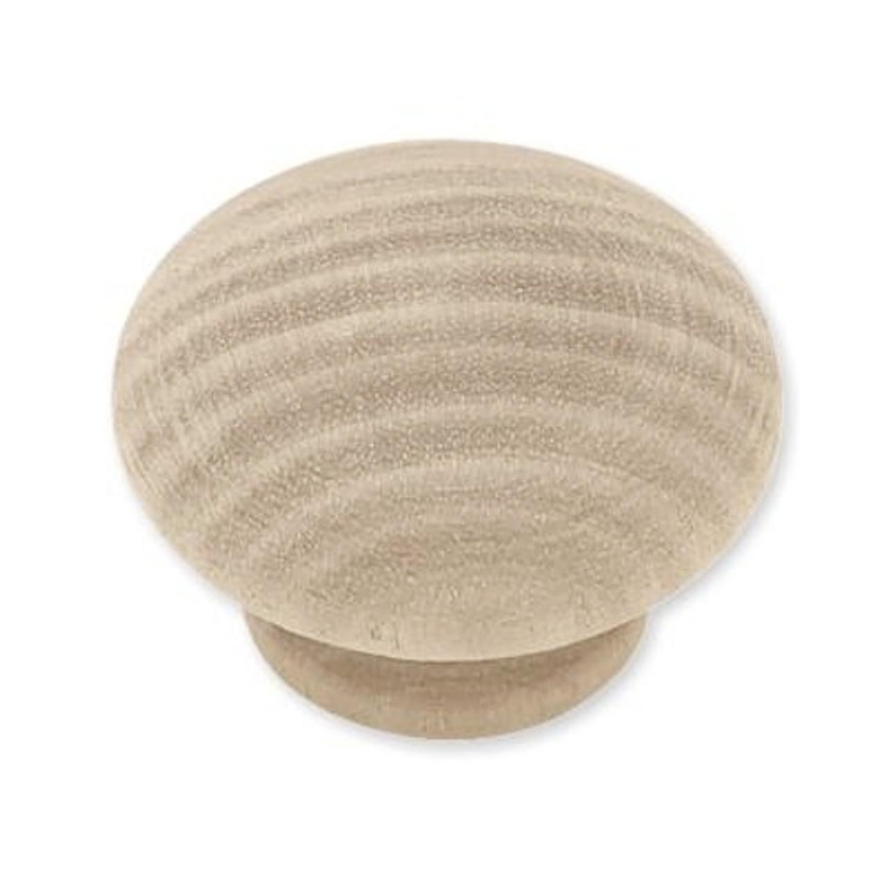 """P10513C-BIR  Birch Wood 1 1/2"""" Round Cabinet Drawer Knob 2 Pack"""