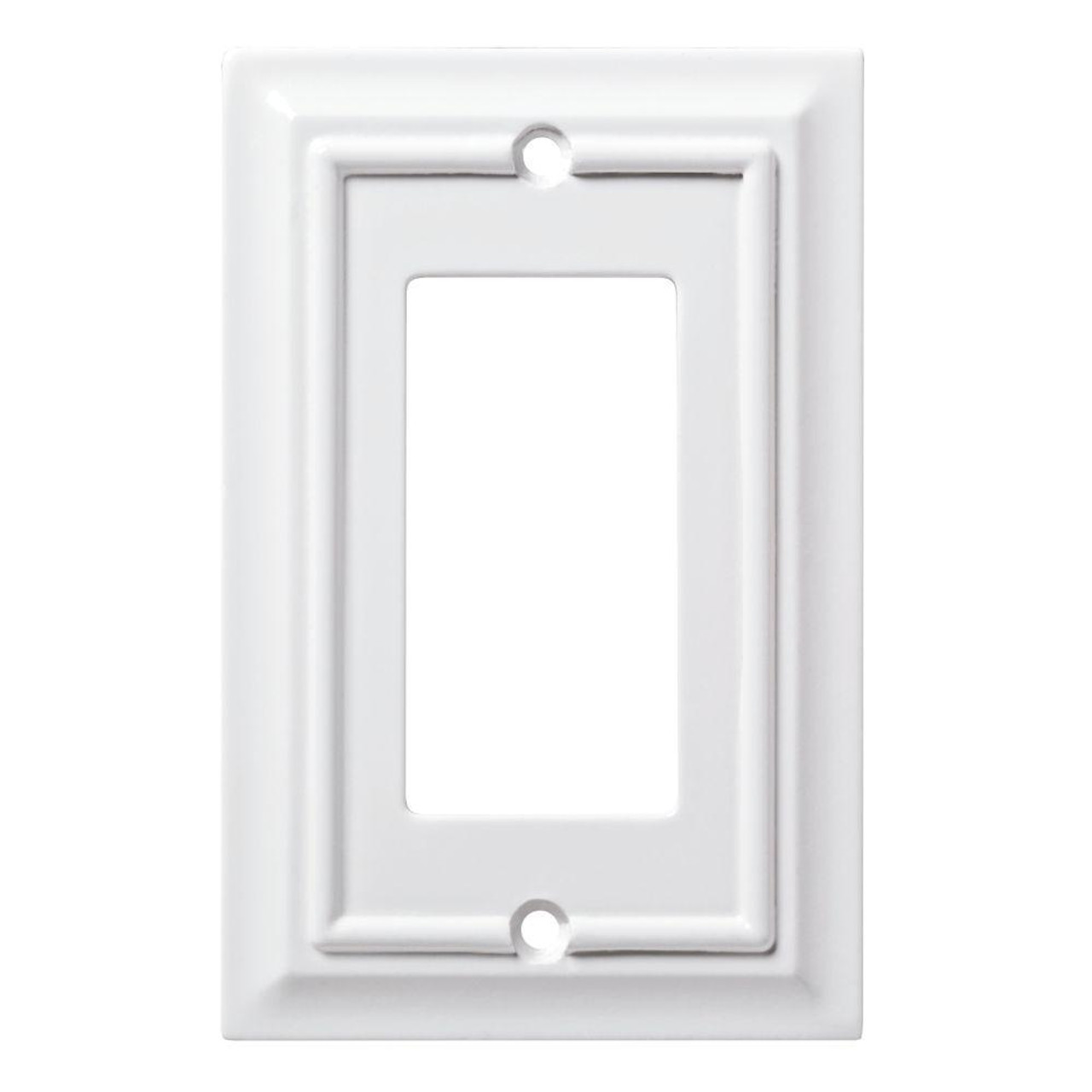 Hampton Bay W10768-W White Architect Single GFCI Decora Cover