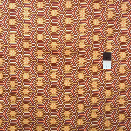 Victoria and Albert PWVA034 Jones Hexagon Citron Cotton Fabric By Yard