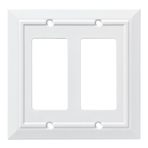 W10769-W White Wood Architect Double GFCI Cover Plate