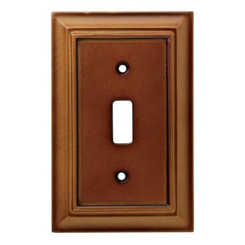 171912 Brown Architect Single Toggle Switch Cover Plate