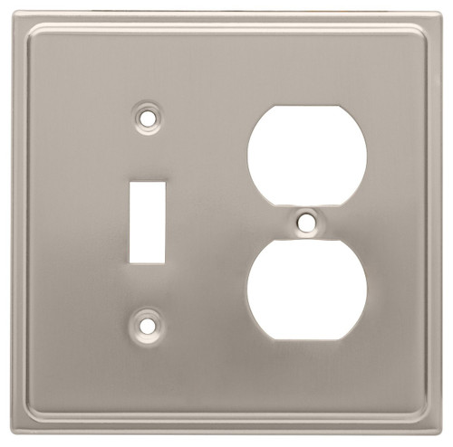 126480 Satin Nickel Country Fair Single Switch / Duplex Cover Wall Plate