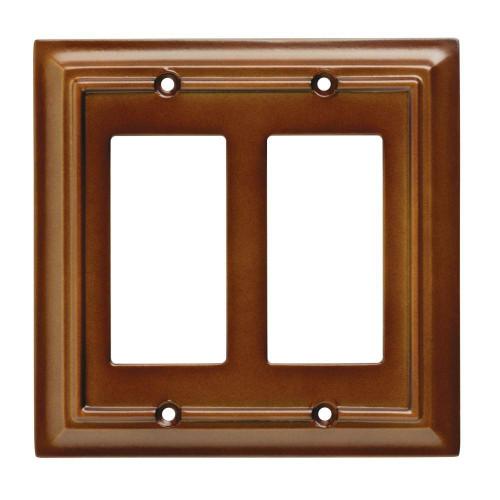 W10769-SDL Saddle Brown Architect Double GFCI Decora Cover Plate