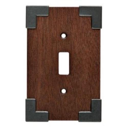 Brainerd W27022-CHS Rowland Charcoal Ebony & Soft Iron Single Switch Cover Plate
