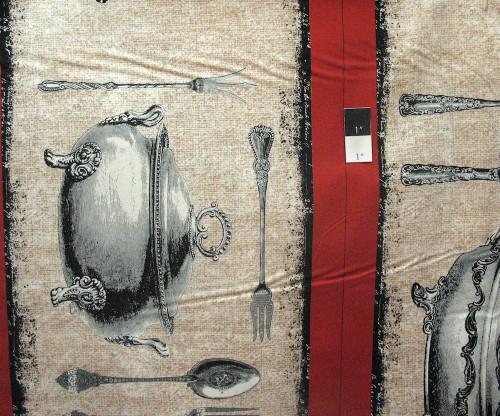Michael Miller DC5508 Bon Apetit Table Run Flax Quilting Cotton Fabric By Yard