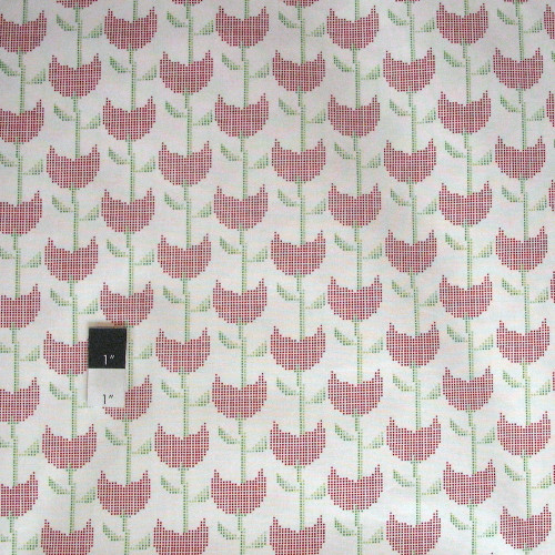Dear Stella Tulips Red Quilting Cotton Fabric By Yard