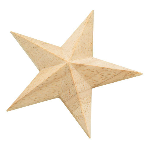 Liberty 2-3/4 in. Vintage Style Unfinished Wood Star Furniture Embellishment