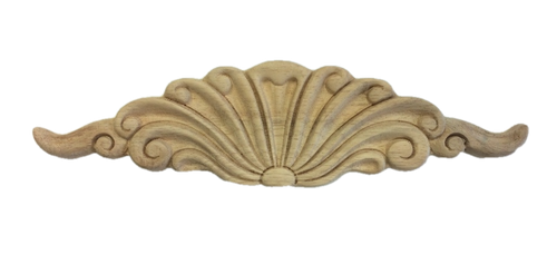 "Liberty 2 3/4"" x 10 1/2"" Scroll Unfinished Wood Furniture Embellishment"