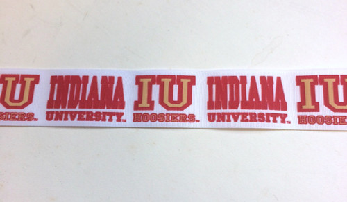 "Indiana University Grosgrain Ribbon 10 Yds 1 1/2"" Wide"