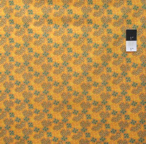 Victoria and Albert PWVA037 Vintage Florals Floral Spray Azure Fabric By Yard