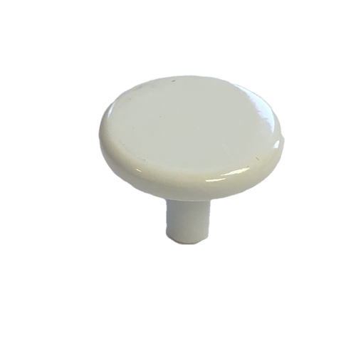 "Liberty 085-03-0282 1 1/8"" White Round Cabinet & Drawer Knob"