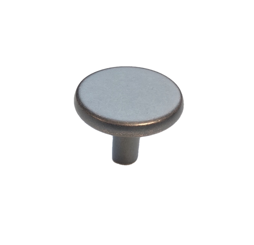 """Liberty 085-03-0730 1 1/8"""" Oil Rubbed Bronze Round Cabinet & Drawer Knob"""