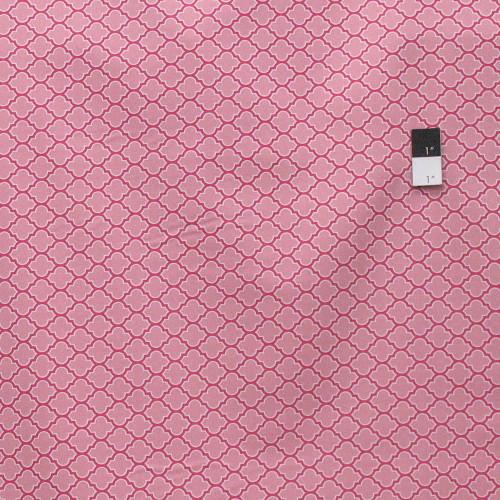 Joel Dewberry PWTC006 True Colors Lodge Lattice Pink Cotton Fabric By Yard