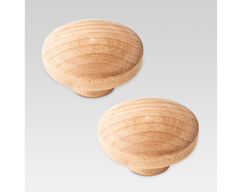 "Liberty 085-03-1797 Unfinished Wood 1 3/8"" Round Cabinet & Drawer Knob 2 Pack"