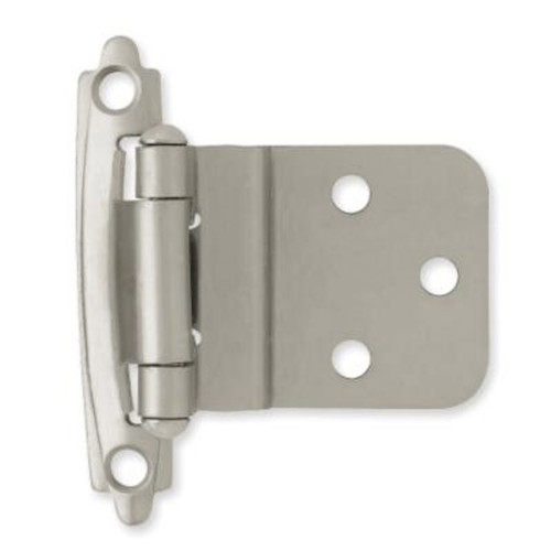 "BULK Liberty H0104AL-SN 3/8"" Self Closing Inset Hinge Satin Nickel 24 Pair Pack"