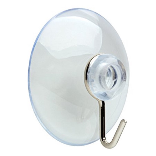 Arrow 160372 Suction Cup Hook Chrome Coat and Hat Hook Pack of 8