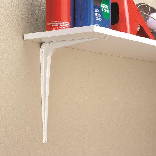 "Liberty 085-03-3500 10"" x 12"" Shelf Bracket White Finish 2 Pack"