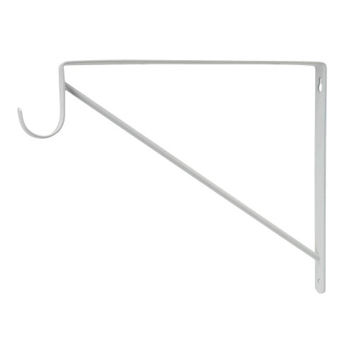 Liberty 50041 Shelf Bracket & Closet Rod Support White Finish 2 Pack