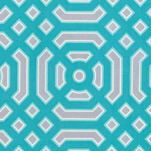 Joel Dewberry PWJD141 Modernist Ditto Turquoise Cotton Quilting Fabric By Yard