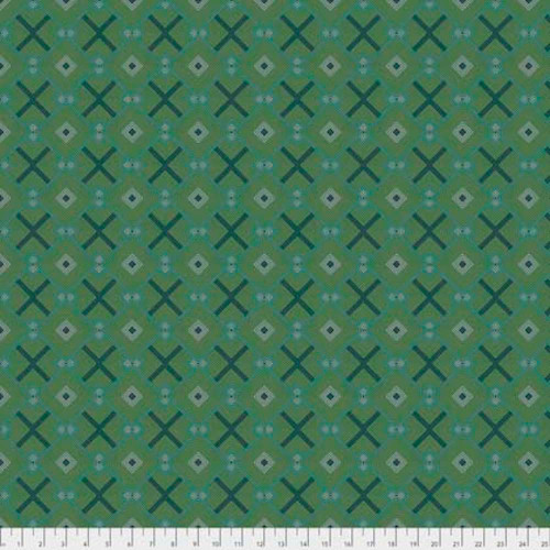 Joel Dewberry Avalon PWJD158 Squared Jade Cotton Fabric By Yd