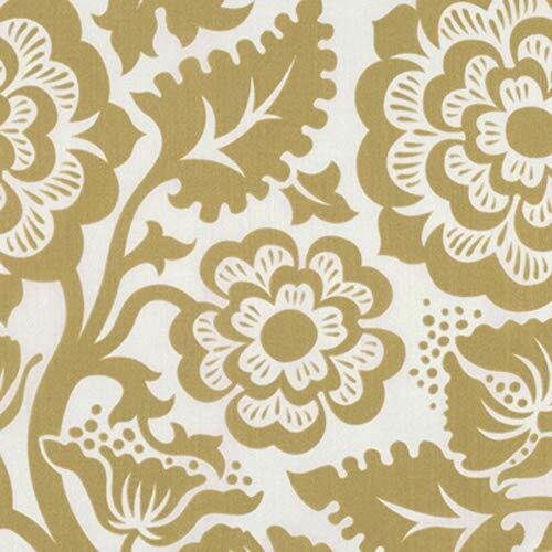 Joel Dewberry VOJD012 Modernist Blockprint Blossom Gold VOILE Fabric By Yard
