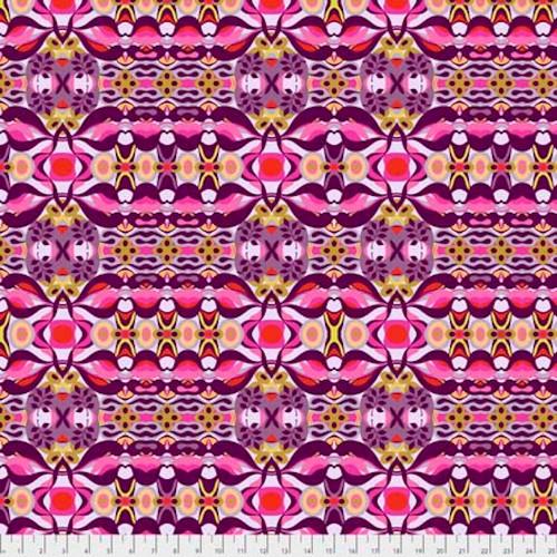 Shannon Newlin Garden Dreams PWSN011 Wave Purple Cotton Fabric By Yd