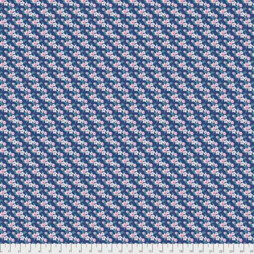 Tanya Whelan Gazebo PWTW155 Small Floral Blue Cotton Fabric By The Yard