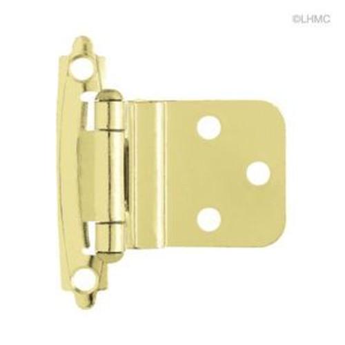 "H0104AC-PB 3/8"" Self Closing Inset Hinge Brass Plate Set of 2"