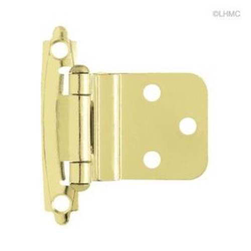 "H0104AC-PB 3/8"" Self Closing Inset Hinge Brass Plate Set of 2"