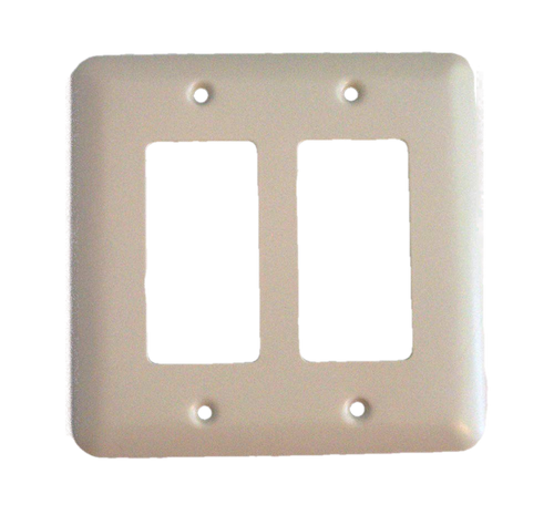 Brainerd 64081 Bisque Stamped Double GFCI Cover Plate