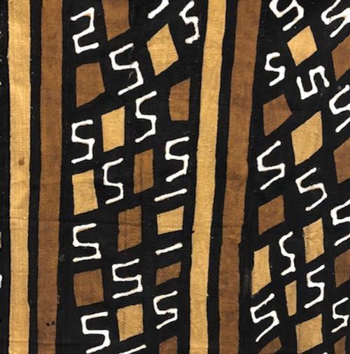 """25269 African Mali Mud Cloth Bambara Bogolanfini Multi Color Aprox 45"""" x 63"""""""