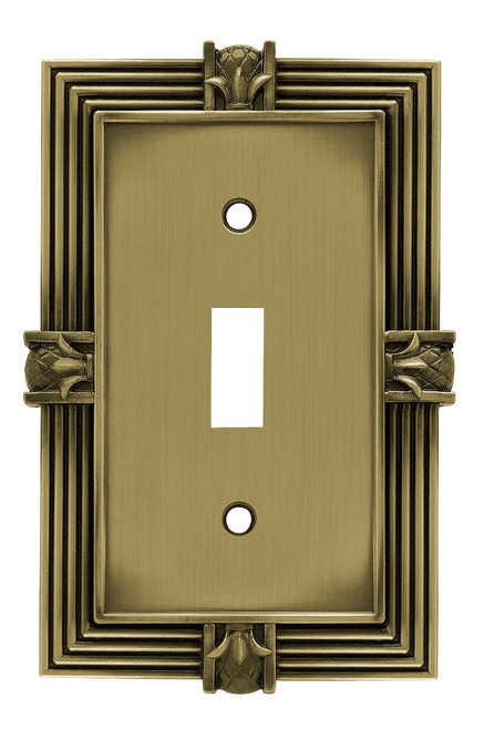 Franklin Brass 64474 Tumbled Antique Brass Pineapple Single Switch Wall Plate