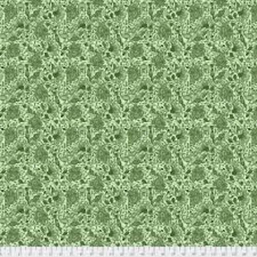 Shannon Newlin Garden Dreams PWSN0013 Dream Green Cotton Fabric By Yd