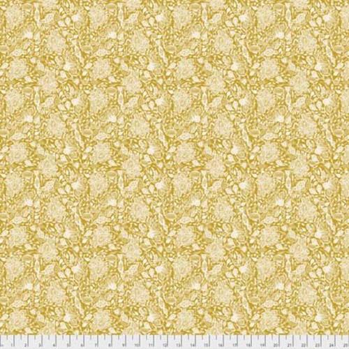 Shannon Newlin Garden Dreams PWSN0013 Dream Mustard Cotton Fabric By Yd