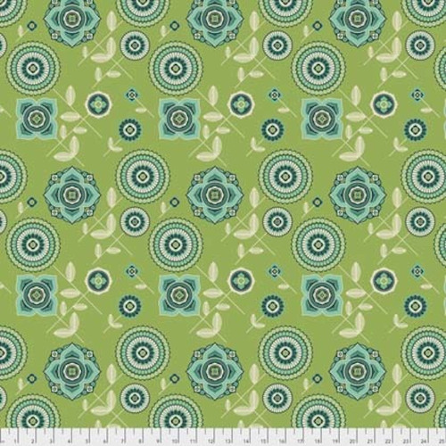 Joel Dewberry Avalon PWJD154 Delphina Greenery Cotton Fabric By Yd