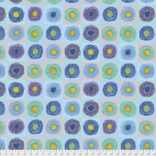 Keiko Goke How Do You Do PWKG003 Poppy Blue Cotton Fabric By Yard