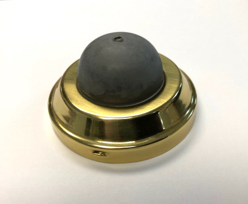Brainerd B40925D-PL Solid Brass Concave Door Stop