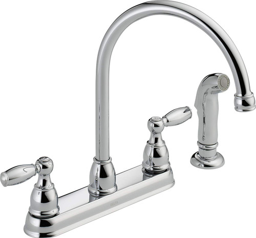 Delta 21988LF Foundations Kitchen Faucet w/ Side Sprayer Chrome Finish