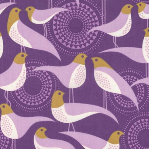 Joel Dewberry VOJD011 Modernist Perch Violet Cotton VOILE Fabric 8 Yard Bolt