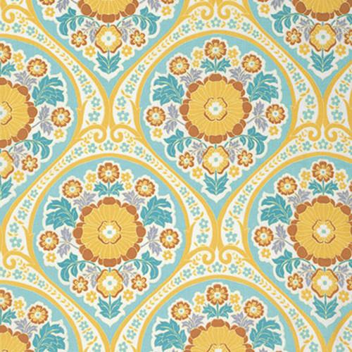 Joel Dewberry Atrium PWJD106 Grace Mint Cotton Fabric By Yd