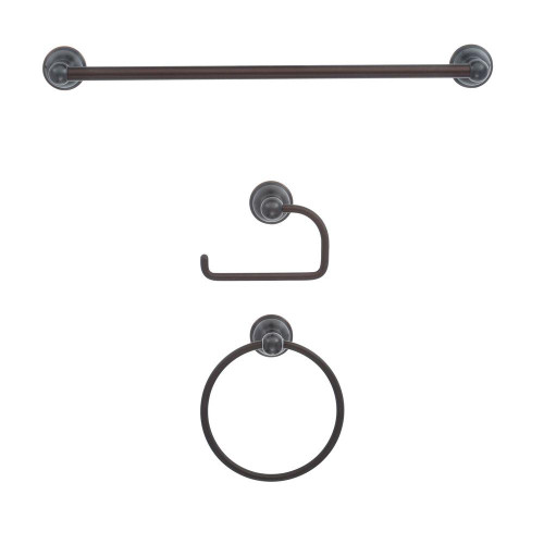 ZenDesign Manor 3-Piece Bath Hardware Accessories Set Oil Rubbed Bronze
