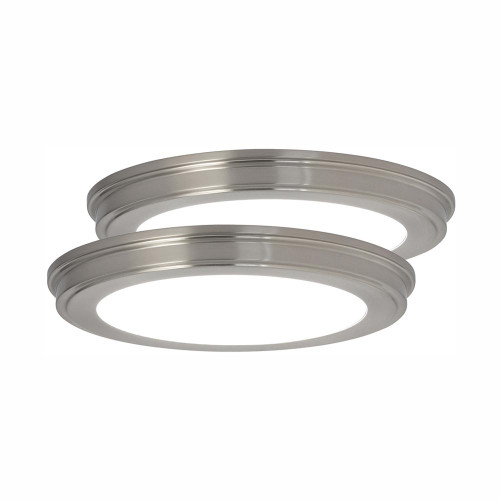 "13"" 24-Watt Brushed Nickel Color Changing LED Ceiling Flush Mount w/ White Lens"