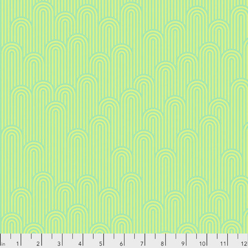 Tula Pink PWTP126 Zuma Tower 7 Sea Glass Cotton Quilting Fabric By Yd