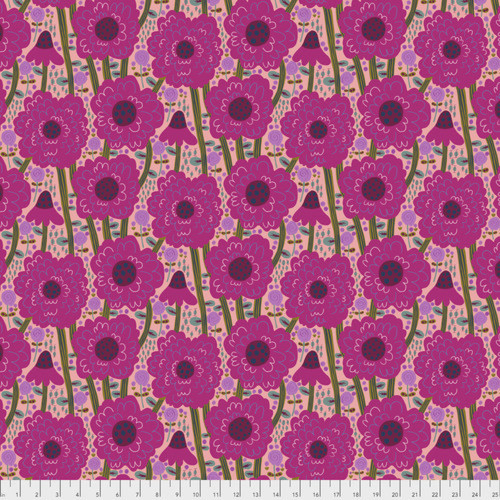 Monika Forsberg PWMF002 Savernake Road Estelle Magenta Cotton Fabric By Yd