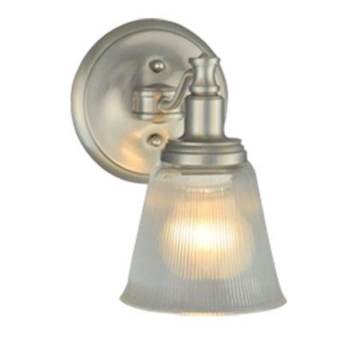 Martha Stewart Living Wayland Collection 1-Light Brushed Nickel Wall Sconce