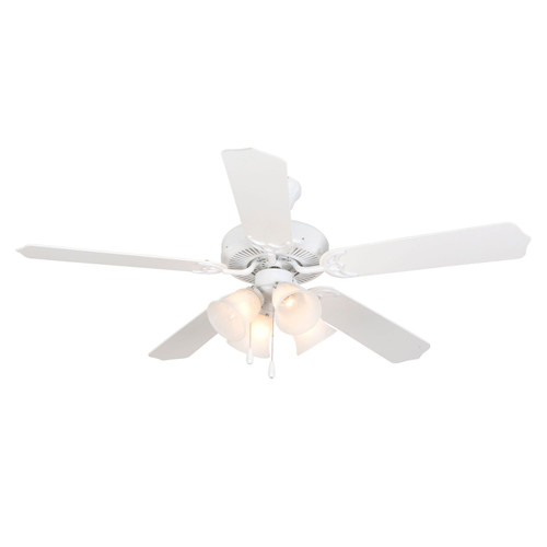 """Westfield 52"""" Indoor White 5 Blade Ceiling Fan with Light"""